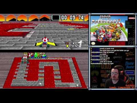 [#68] Super Mario Kart (Part 1 - First 3 Cups) (SNES) - RetroMasochism