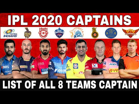 IPL 2020 :- ALL TEAMS CAPTAINS FOR IPL 2020