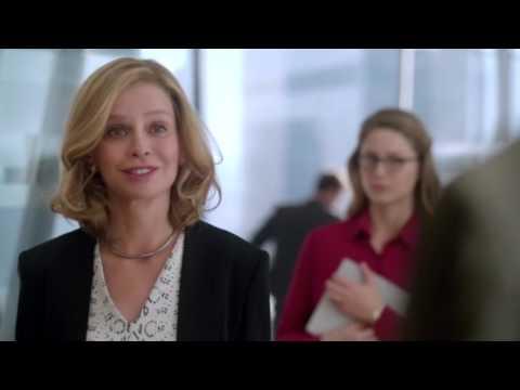 Supergirl 1x11 - Adam surprises Cat at CatCo