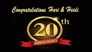 Hari & Heidi McHenry 20th Wedding Anniversary
