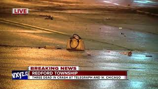 Three women killed in single-car crash in Redford Township