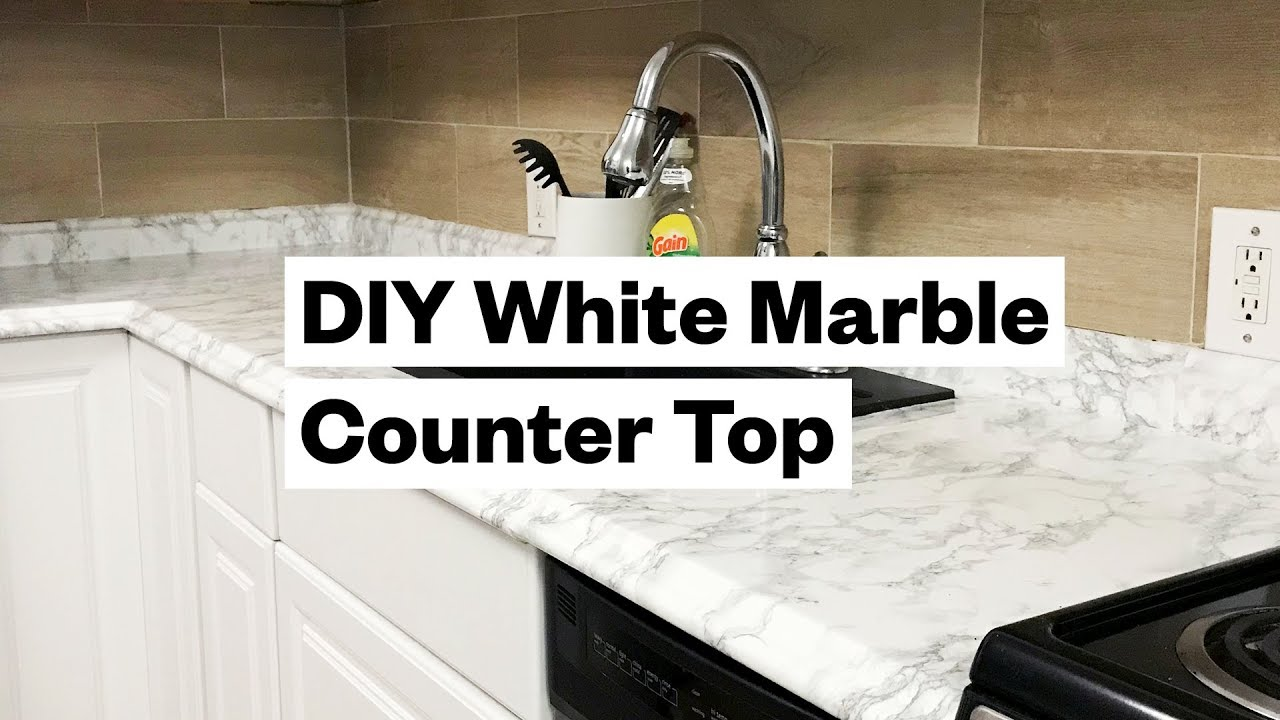 kitchen countertop cover corner cabinets transform your for 20 diy white marble youtube
