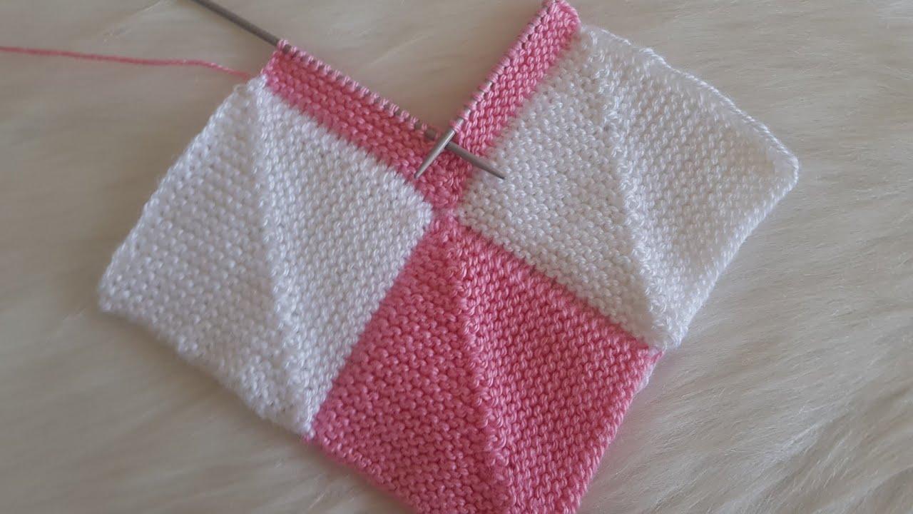 Kırkyama Battaniye Modeli  / Patchwork  Blanket Knitting Pattern