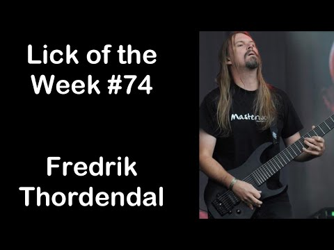 Lick Of The Week #74 (Fredrik Thordendal Half Whole Diminished Lick)