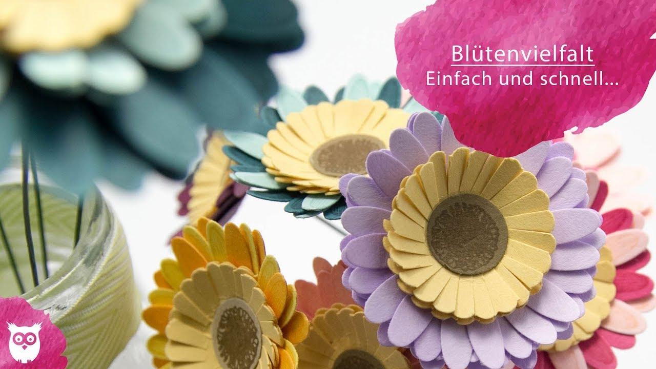 Blüten aus Papier | DIY Blumenstrauß - YouTube