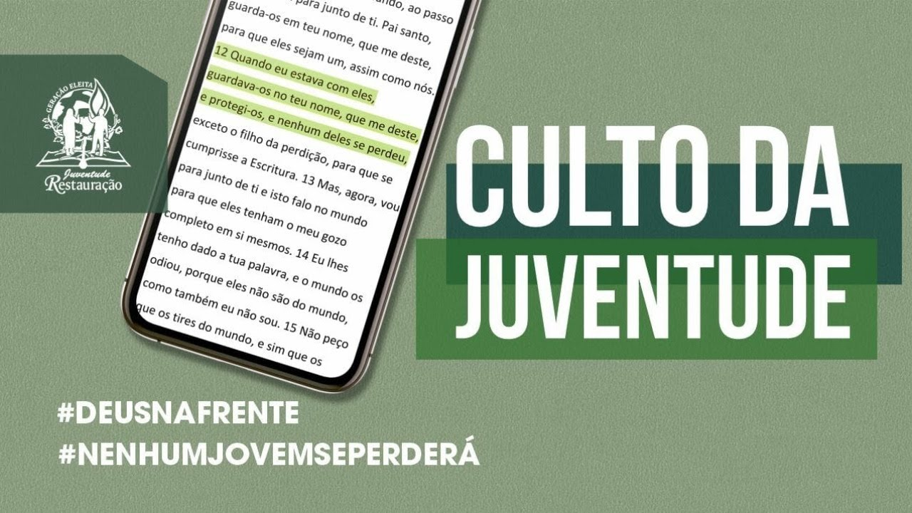 CULTO DA JUVENTUDE SEDE INTERNACIONAL  (21/11/2020)
