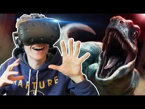JURASSIC PARK VR SIMULATOR   Island 359 VR (HTC Vive Gameplay)