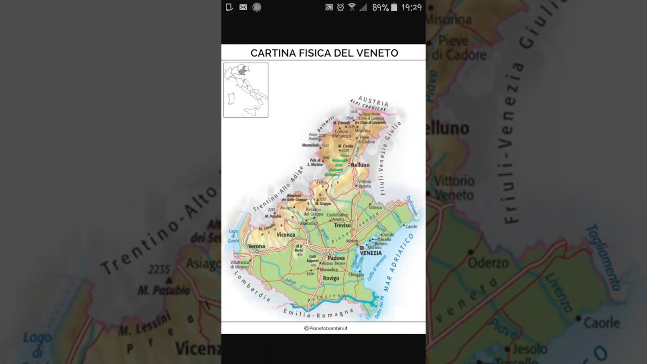 Cartina Del Veneto E Friuli.Cartina Del Veneto Youtube