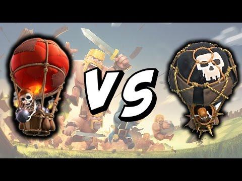 LVL 5 vs LVL 6 BALLOONS - Clash of Clans