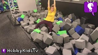 Indoor TRAMPOLINE PLAY PARK Foam Pits with HobbyKids