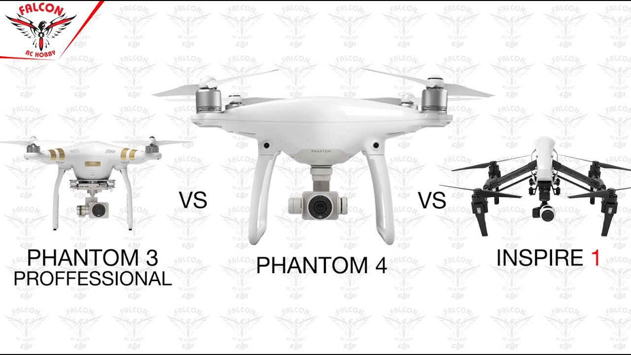 DJI Phantom 3 Pro 4 Inspire 1 X3 Camera Comparison