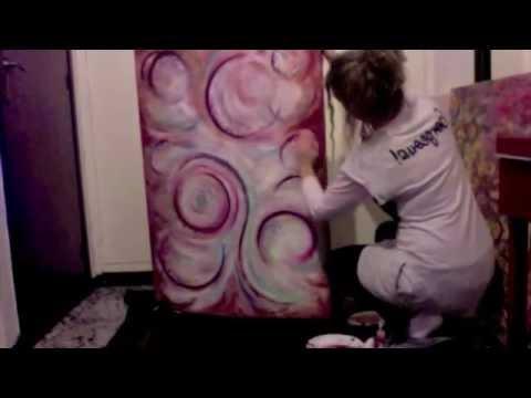 cuadros abstractos 1 aprende dactilopintura sensorial