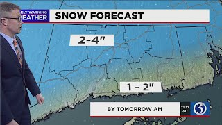FORECAST: Snow starts moving into the state, expected to impact evening commute