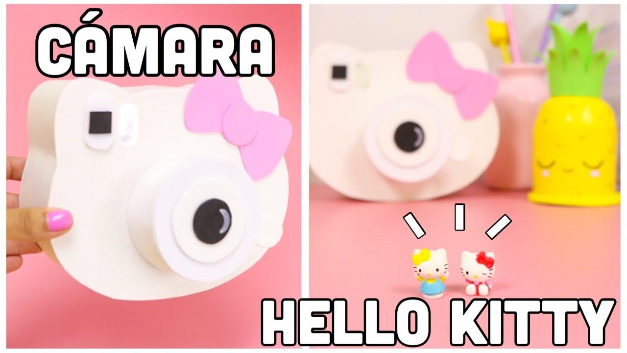 Diy c mara hello kitty regalo f cil y bonito manualidades for Cute video ideas