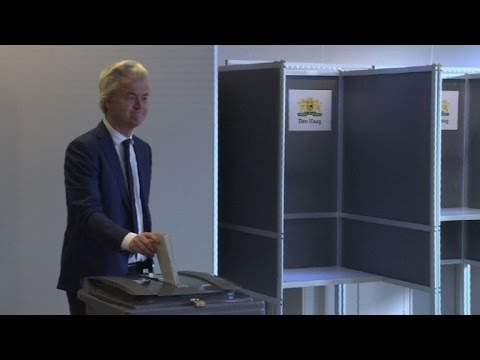 Far-right candidate Geert Wilders casts vote in Dutch elections