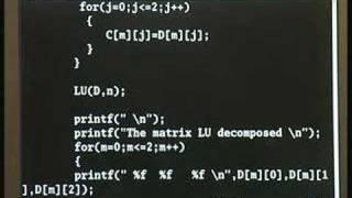 Lecture 18 - Matrix Elimination