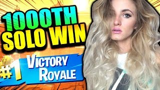 MY 1000TH SOLO WIN ON FORTNITE BATTLE ROYALE! HIGH KILL ATTEMPT