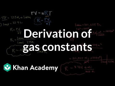 Derivation of gas constants using molar volume and STP | Physical Processes | MCAT | Khan Academy