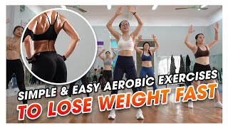Simple & Easy Aerobic Exercises to Lose Weight FAST | Amg Fitness