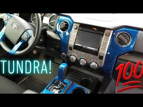 How To 2017 Tundra Trd Painted Interior Mod.