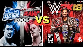 WWE Smackdown VS Raw 2006 Finishers VS WWE 2K18 Finishers Comparison👌😍 WHO IS THE BEST👌😍