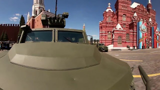 Victory Day Parade 360  Military equipment rolls through Red Square