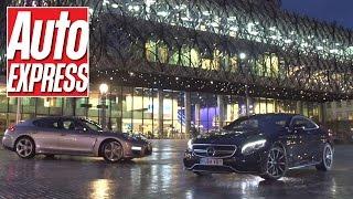 Mercedes S63 AMG Coupe vs Porsche Panamera Turbo S