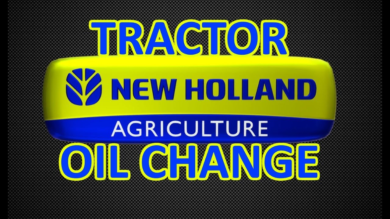 New Holland Tractor Maintenance - Oil Change and Grease Job (how to /  hi-speed)