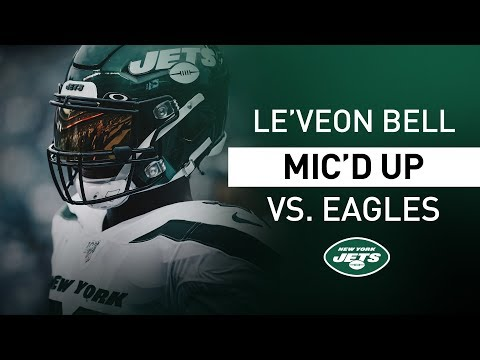 """Le'Veon Bell Mic'd Up Vs. Eagles """"It's About To Go Crazy!"""" 