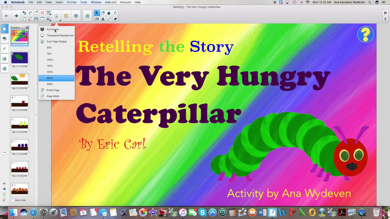 Preview Of Retelling The Very Hungry Caterpillar Youtube