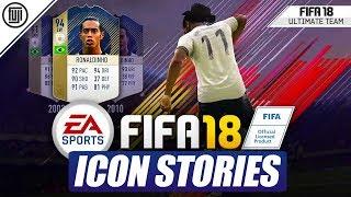 Omg fut icon stories!!! ft. icon ronaldinho!!! - fifa 18 ultimate team