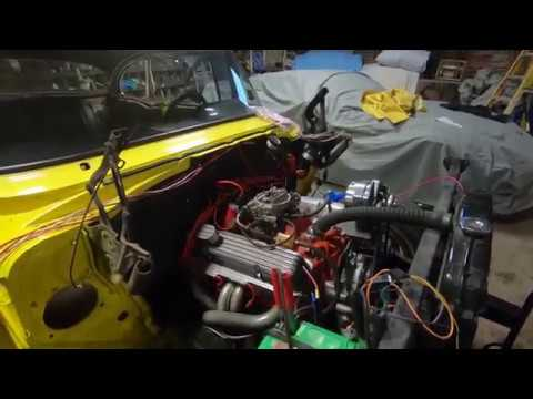 1957 Chevy aftermarket wiring harness install - YouTube