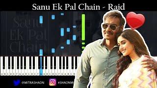 Sanu Ek Pal Chain - Raid - Piano [ Piano Tutorial + Midi + Sheet Music ]