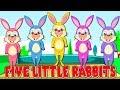 Five Little Rabbits in Arabic | خمسة أرانب صغيرة |  اغنية اطفال + دادي فينجر