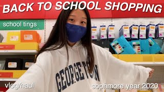 BACK TO SCHOOL SUPPLIES SHOPPING vlog/haul 2020 *online school edition*