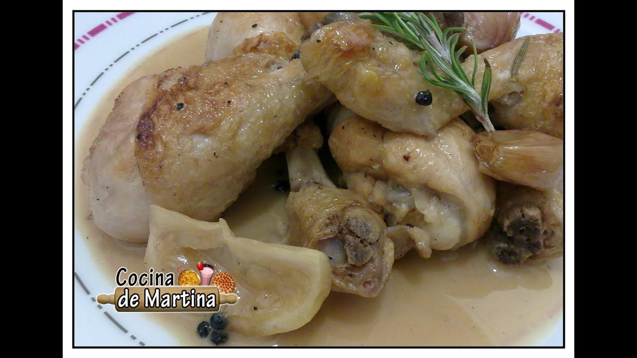 Muslos de pollo al lim n recetas de cocina cocina de for Cocina de martina