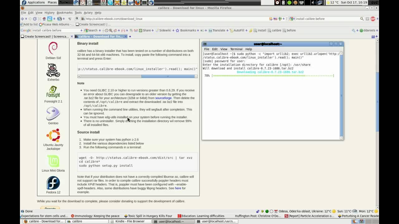 Installing Calibre via command line: rec: uninstall first