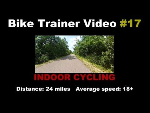 Bike Trainer Video 17 - Indoor Cycling Training. Richmond, MI to Rochester Hills, MI rail-trail
