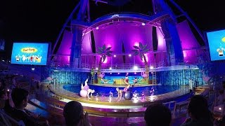 [4K] Big Daddys AquaTheater Aqua Show Harmony of the Seas Royal Caribbean December 2016