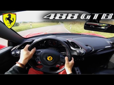 Ferrari 488 GTB 780HP POV Test Drive Acceleration & SOUND on AUTOBAHN by VOS Performance