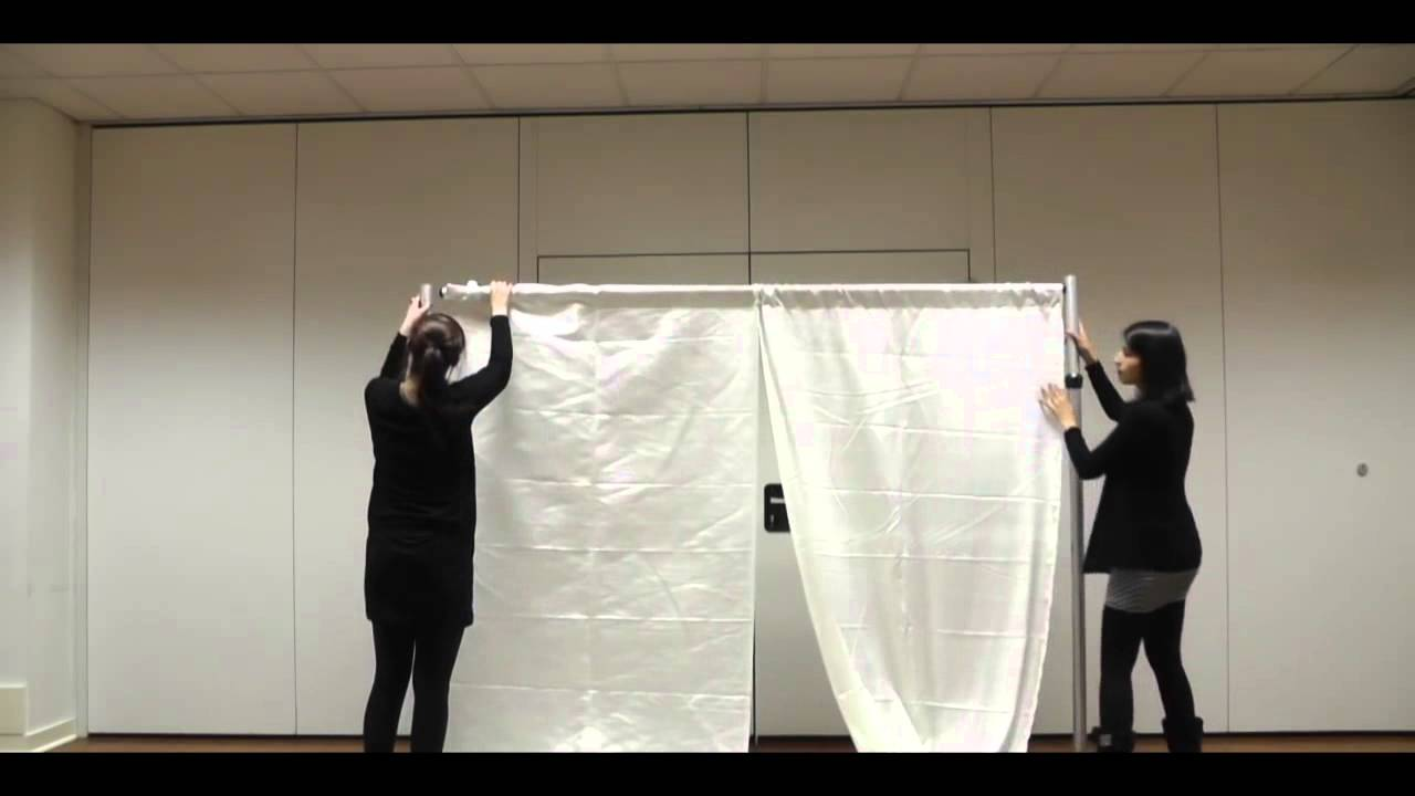 backdrape set-up guide - pipe & drape backdrop system with wedding
