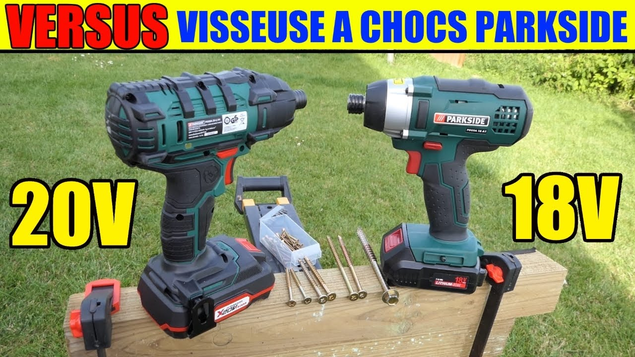 Parkside visseuse chocs 20 v versus 18 v pdssa impact for Parkside avvitatore