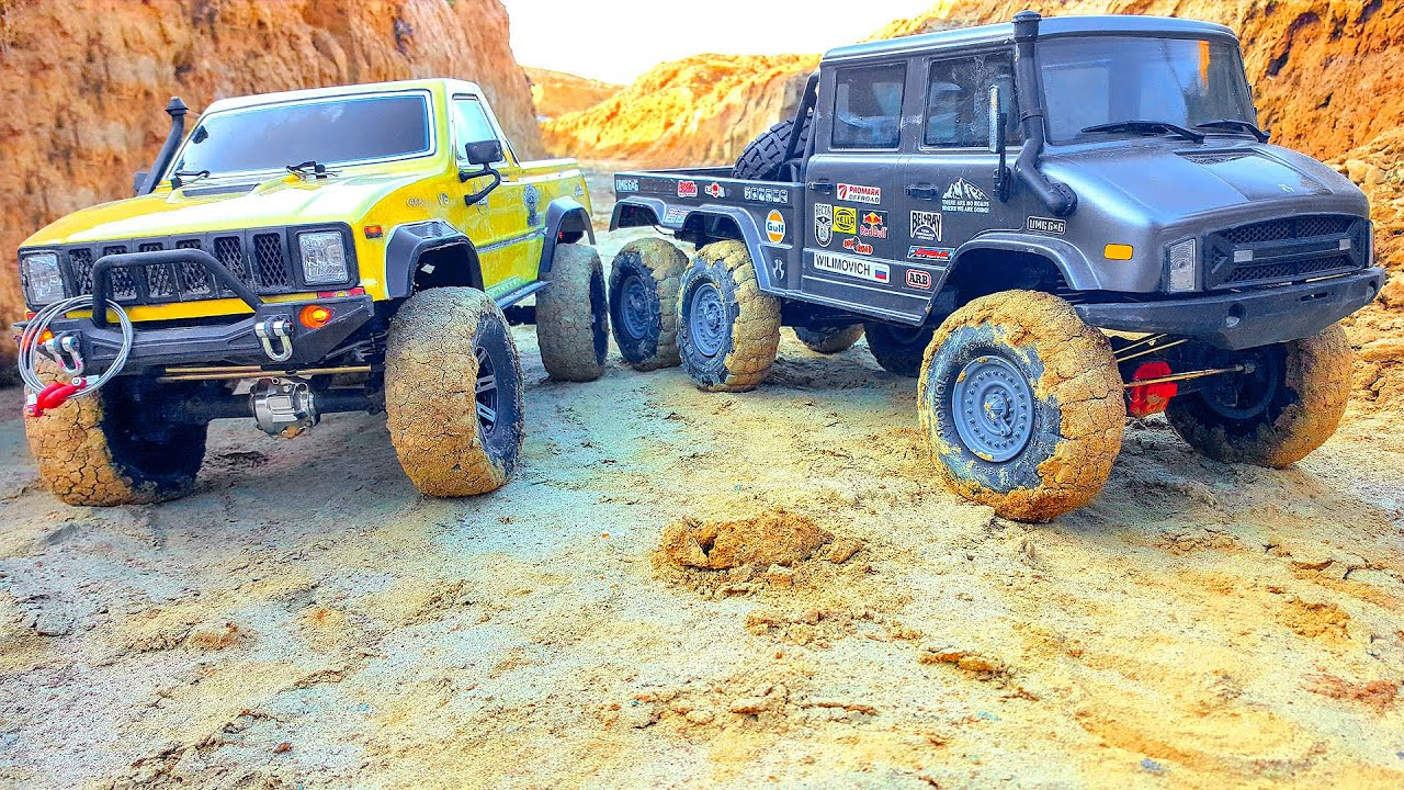RC Cars Extreme Canyon Adventures Axial Unimog 6x6 VS RGT 4x4 – Wilimovich