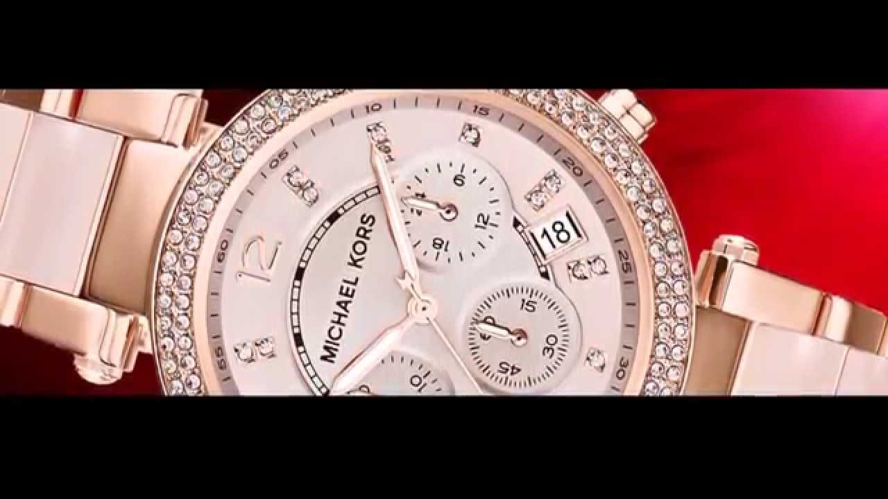 Relógio Michael Kors Chronograph Parker Rose Gold MK5896 - YouTube 4c23253770