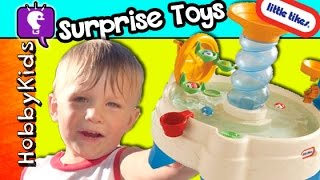 Little Tikes Spiralin' Seas Waterpark + Surprises For Hobbybaby By Hobbykidstv