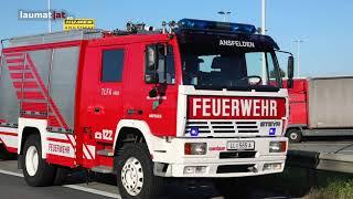 Vier LKW auf Westautobahn bei Ansfelden kollidiert