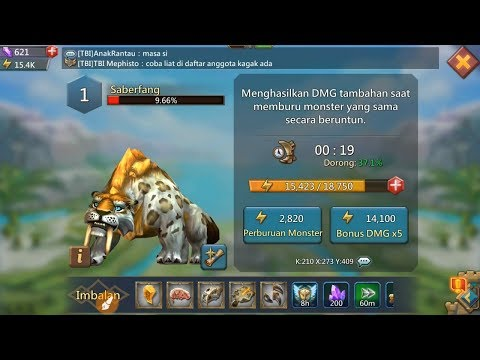 LORDS MOBILE BOS MONSTER SABERFANG