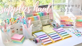 Back to school: supplies shopping, huge stationery haul, & giveaway 2020 ✏️🌸