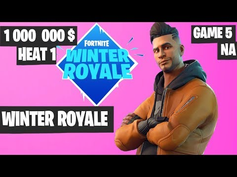 Fortnite Winter Royale Semifinal Heat 1 Game 5 NA Highlights [Fortnite Tournament 2018]