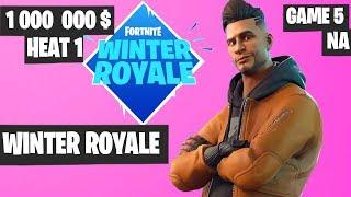 Fortnite Winter Royale Semifinal Heat 1 Game 5 NA Highlights [Fortnite Tournament 2018]